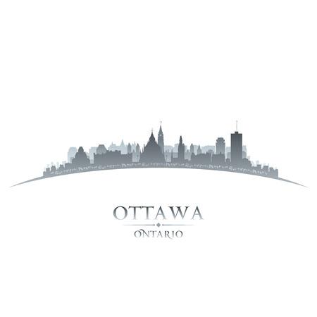 Ottawa Ontario Canada city skyline silhouette  Vector illustration Vector