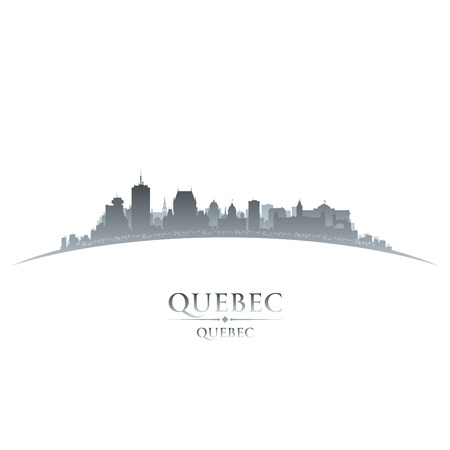 Quebec Canada city skyline silhouette  Vector illustration