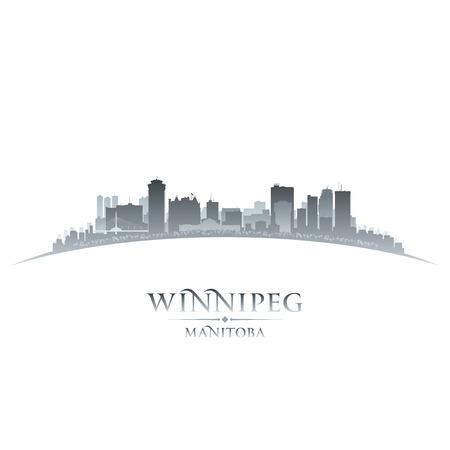 Winnipeg Manitoba Canada city skyline silhouette  Vector illustration