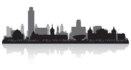 Albany New York city skyline vector silhouette illustration 일러스트