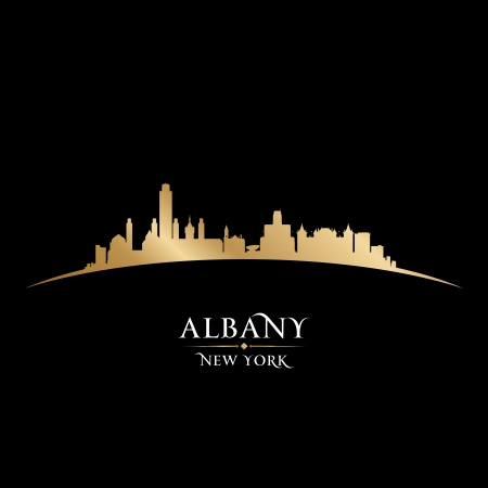 Albany New York city skyline silhouette  Vector illustration