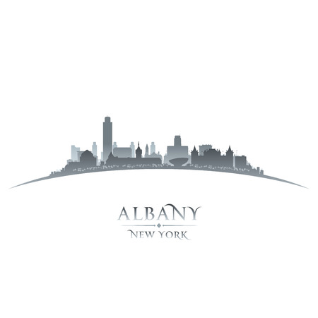 gold coast: Albany New York city skyline silhouette  Vector illustration