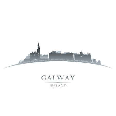 Galway Ireland  city skyline silhouette. Vector illustration Vector