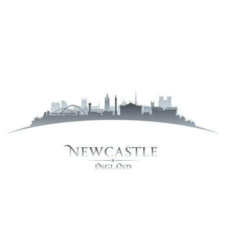 inglaterra: Newcastle Inglaterra silhueta horizonte da cidade. Ilustra