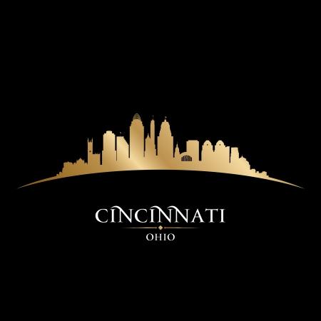 Cincinnati skyline silhouet. illustratie