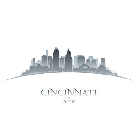 Cincinnati Ohio city skyline silhouette. illustration Vector