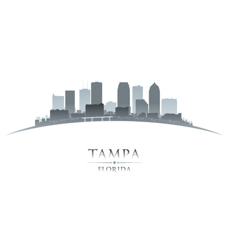 Tampa Florida city skyline silhouette. Vector illustration Иллюстрация