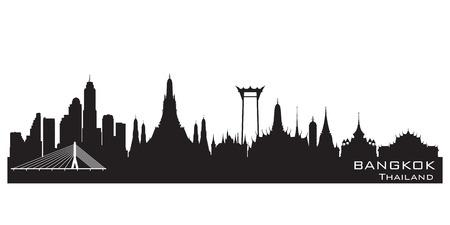 city: Horizonte de Bangkok Tailandia vectorial detallado silueta