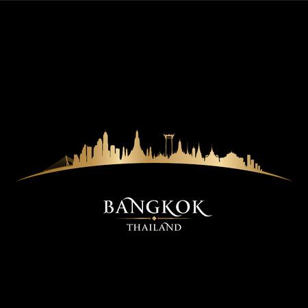 Horizonte de Bangkok Tailandia vectorial detallado silueta