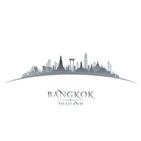 La ciudad de Bangkok Tailandia ilustración silueta del horizonte de Vector Vectores