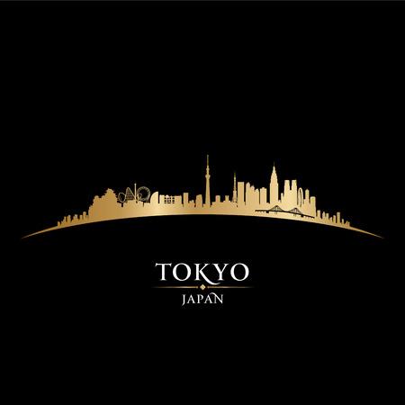 coast: Tokyo Japan skyline Detailed vector silhouette