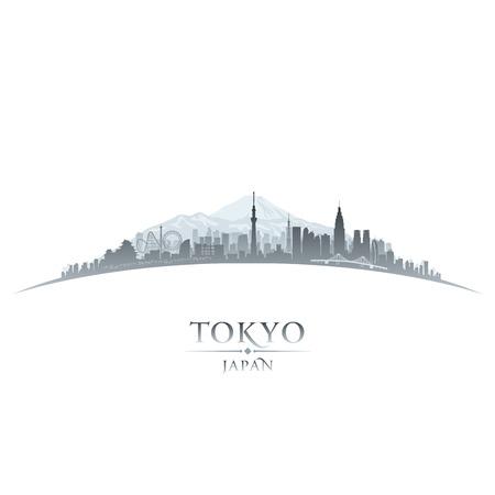 東京日本都市スカイライン シルエット。ベクトル イラスト  イラスト・ベクター素材