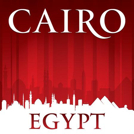 cairo: Cairo Egypt city skyline silhouette.