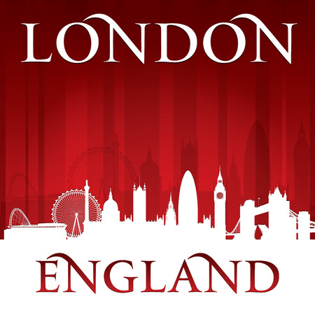 London England city skyline silhouette. Vector illustration Vector