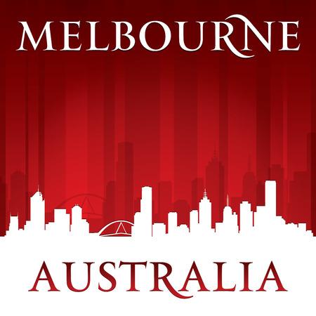 melbourne australia: Melbourne Australia city skyline silhouette.