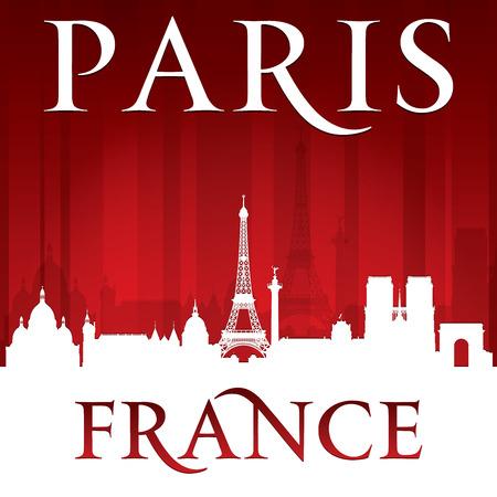 paris skyline: Paris France city skyline silhouette.