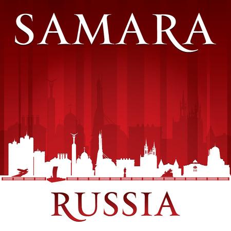Samara Russia city skyline silhouette.