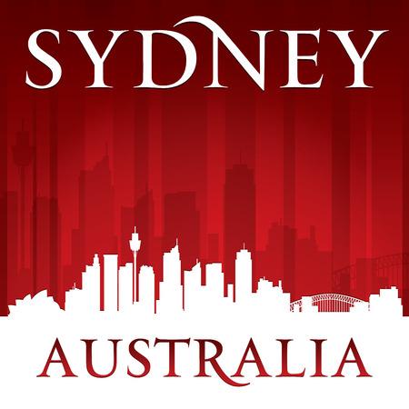 sydney australia: Sydney Australia city skyline silhouette.