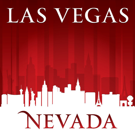 Las Vegas Nevada city skyline silhouette. Vector