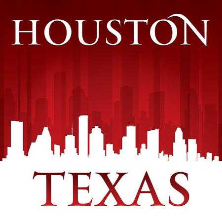 Houston Texas city skyline silhouette. Vector illustration Vector