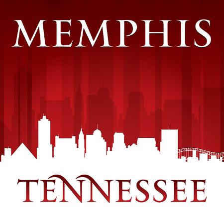 memphis: Memphis Tennessee city skyline silhouette. Vector illustration