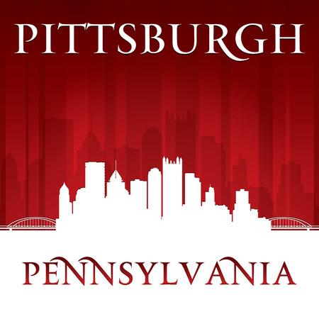 Pittsburgh Pennsylvania city skyline silhouette. Vector illustration Vector