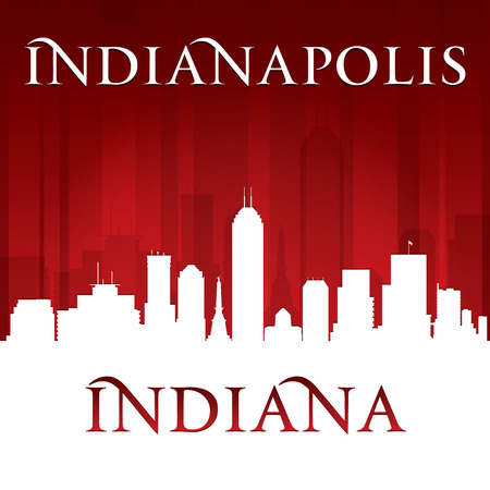 Indianapolis Indiana city skyline silhouette. Vector illustration Vector