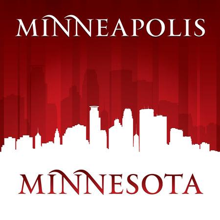 Minneapolis Minnesota city skyline silhouette. Vector illustration Vector