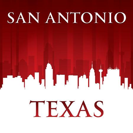 San Antonio Texas skyline van de stad silhouet. Vector illustratie Stock Illustratie