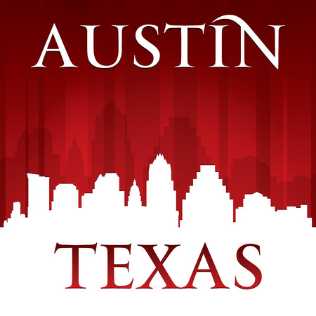 Austin Texas city skyline silhouette. Vector illustration 일러스트
