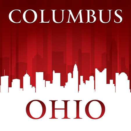 columbus: Columbus Ohio city skyline silhouette. Vector illustration Illustration