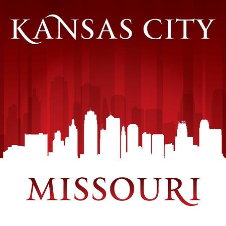 Kansas city Missouri skyline silhouette. Vector illustration Vector