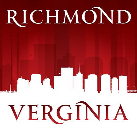 Richmond Virginia city skyline silhouette.