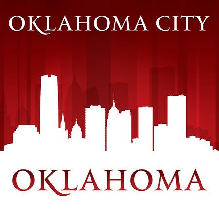 oklahoma: Oklahoma city skyline silhouette.