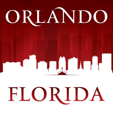orlando: Orlando Florida city skyline silhouette.