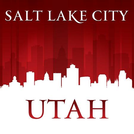 salt lake city: Salt Lake City Utah silueta.