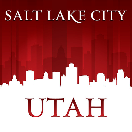 salt lake city: Salt Lake city Utah skyline silhouette.