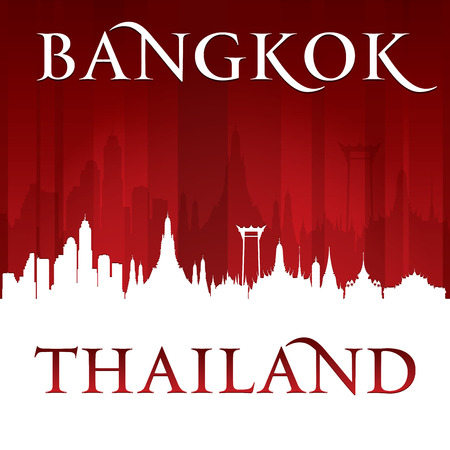 Bangkok Thailand city skyline silhouette. Vector illustration Vector