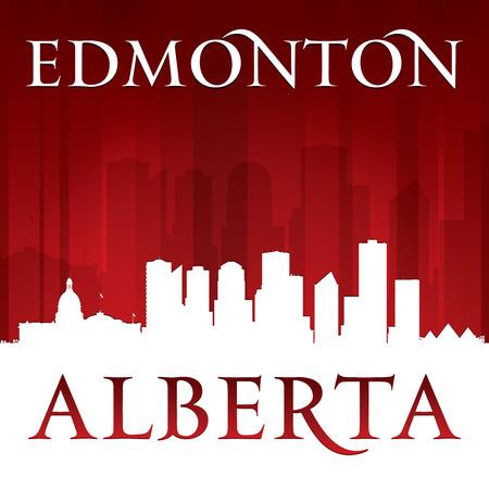 Edmonton Alberta Canada city skyline silhouette. Vector illustration Vector