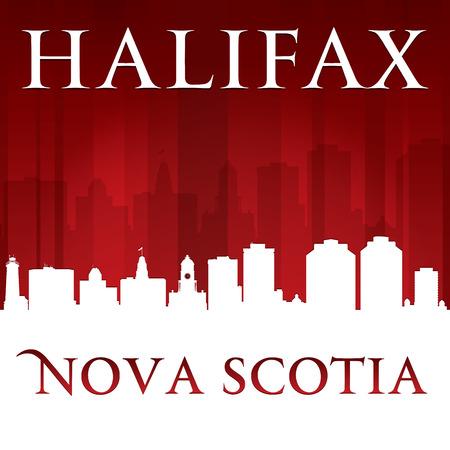 Halifax Nova Scotia Canada city skyline silhouette. Vector illustration Vector