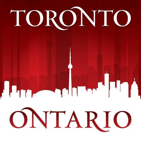 ontario: Toronto, Ontario Canada skyline della citt� silhouette. Illustrazione vettoriale Vettoriali
