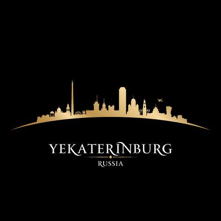 gold coast: Yekaterinburg Russia city skyline silhouette. Vector illustration Illustration