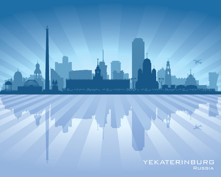 Yekaterinburg Russia skyline city silhouette Vector illustration Vector