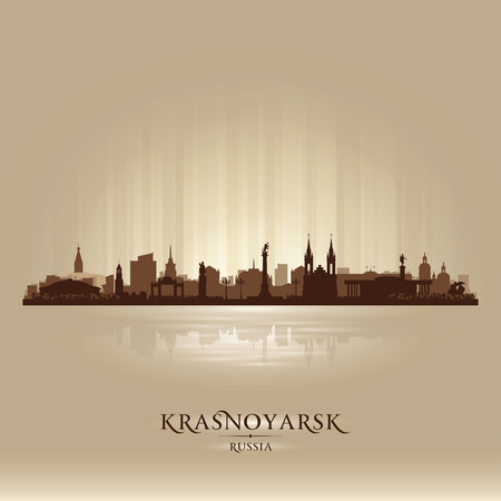 sky scraper: Krasnoyarsk Russia skyline city silhouette