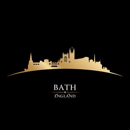 gold coast: Bath England city skyline silhouette. Vector illustration Illustration