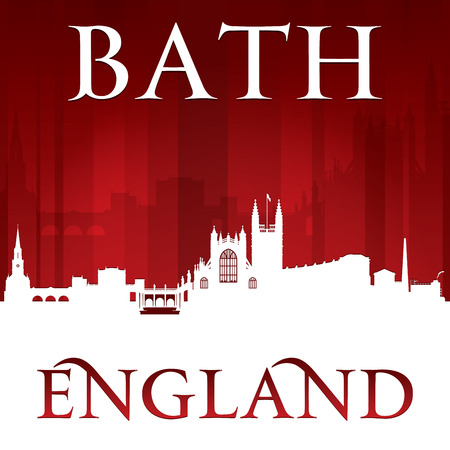 Bath England city skyline silhouette. Vector illustration Illusztráció