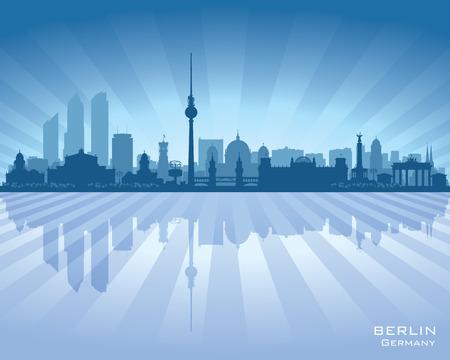 Berlin Germany city skyline vector silhouette illustration Reklamní fotografie - 43190621
