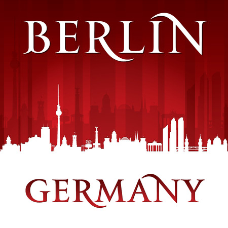 sky scrapers: Berlin Germany city skyline silhouette. Vector illustration Illustration