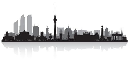 Berlin Alemania horizonte de la ciudad silueta ilustración vectorial Foto de archivo - 43190623
