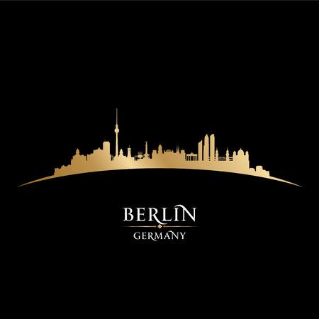 Berlijn Duitsland skyline van de stad silhouet. vector illustratie